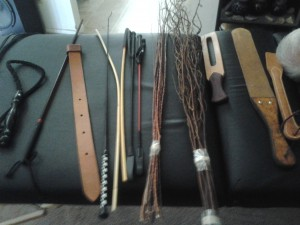 My arsenal...see the long, curly branch bundle? It is mulberry, and woweewow was it fun !!!