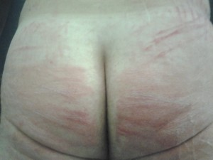 A little caning...